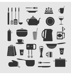 Cookware set of objects vector image