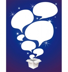 Speech bubbles in box vector
