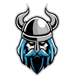vikings head vector image