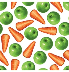 Carrot apple vector