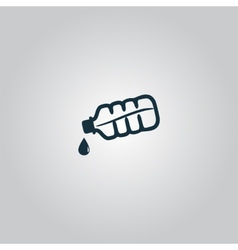 Water bottle with drop icon vector