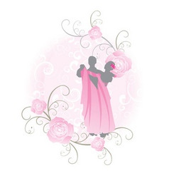 Pink roses dance vector