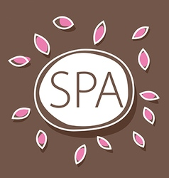 Abstract logo for spa salon vector
