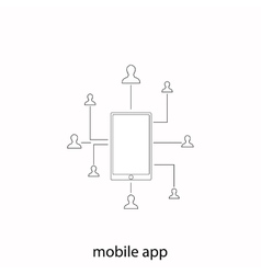 Mobile communication vector image