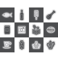 Shop food and drink icons 1 vector