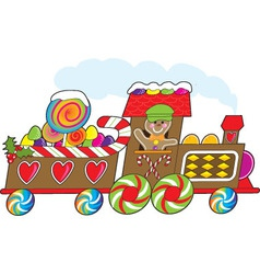 gingerbread train vector image