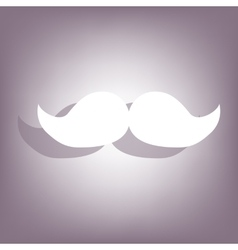 Set of moustaches icon vector