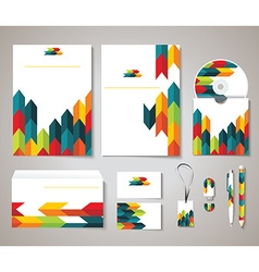 Corporate identity templates with abstract design vector