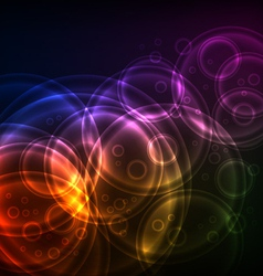 Shiny circles technology vector