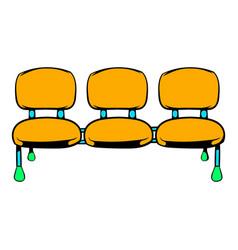 Airport seats icon icon cartoon vector