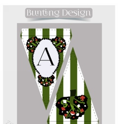 Bunting design - tree from wonderland vector