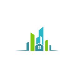city building construction logo vector image vector image