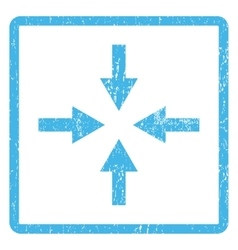 Compress arrows icon rubber stamp vector