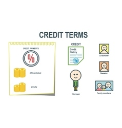 Credit terms schem presentation vector