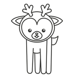 cute deer animal tender isolated icon vector image