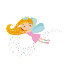 Cute little fairy character vector