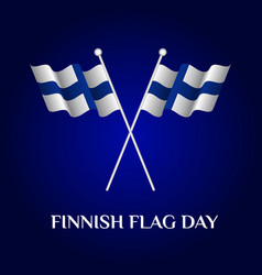 finnish flag day vector image vector image