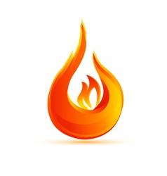 Fire flames logo vector