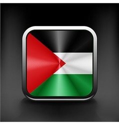 Flag of Palestine Accurate dimensions element vector image