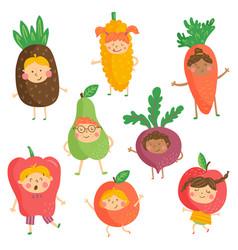 fruit kidies vector image vector image