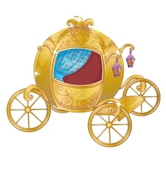 Gold carriage for cinderella vector