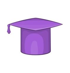 Graduation cap icon in cartoon style vector image