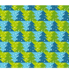 Green and blue color christmas seamless pattern vector