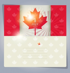Happy canada day card or background july 1 vector