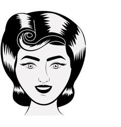 Isolated retro woman design vector image