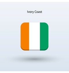 Ivory coast flag icon vector