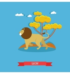 Lion animal concept poster design vector