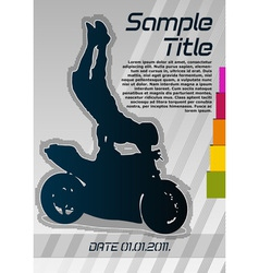 motorcycle poster vector image vector image