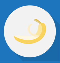 Of fruits symbol on banana vector