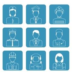 Professional avatar icons set vector