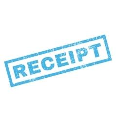 Receipt rubber stamp vector
