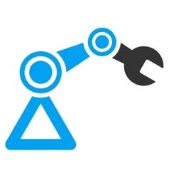 Robotics flat icon vector