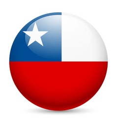 Round glossy icon of chile vector