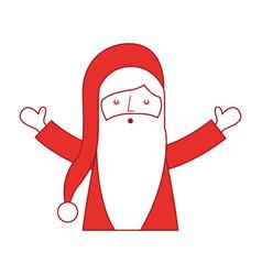 Santa claus head character vector