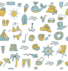 Seamless pattern summer vector