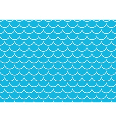 Seamless sea pattern white scales on blue vector