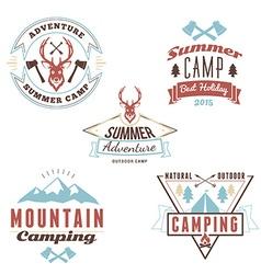 Set of retro vintage summer camping badges vector