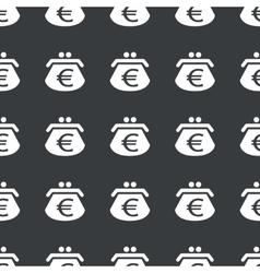 Straight black euro purse pattern vector image vector image