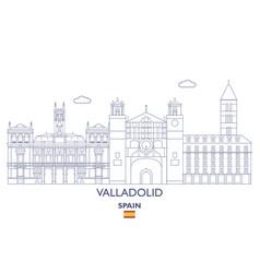 Valladolid linear city skyline vector