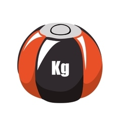 Weight ball fitness gym sport icon graphic vector