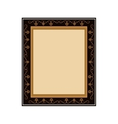 Artistic frame icon vector
