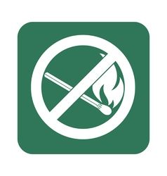 No fire sign prohibition open flame symbol vector
