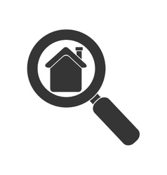 Search house real estate business isolated vector