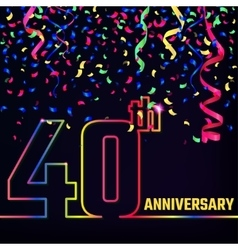 Anniversary outline banner vector
