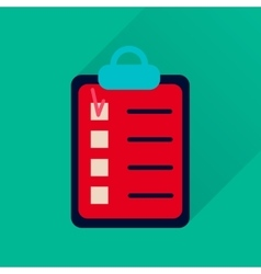 Flat icon with long shadow Business questionnaire vector image