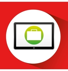 Tablet technology icon portfolio business vector
